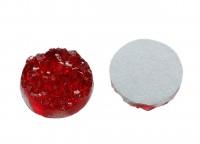 Кабошон круглый имитация хрусталя натурального (друзы), размер 124мм, цвет красный, смола, 2006-016, 2шт