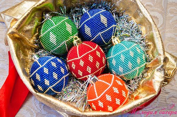 Новогодний шарик на ёлку