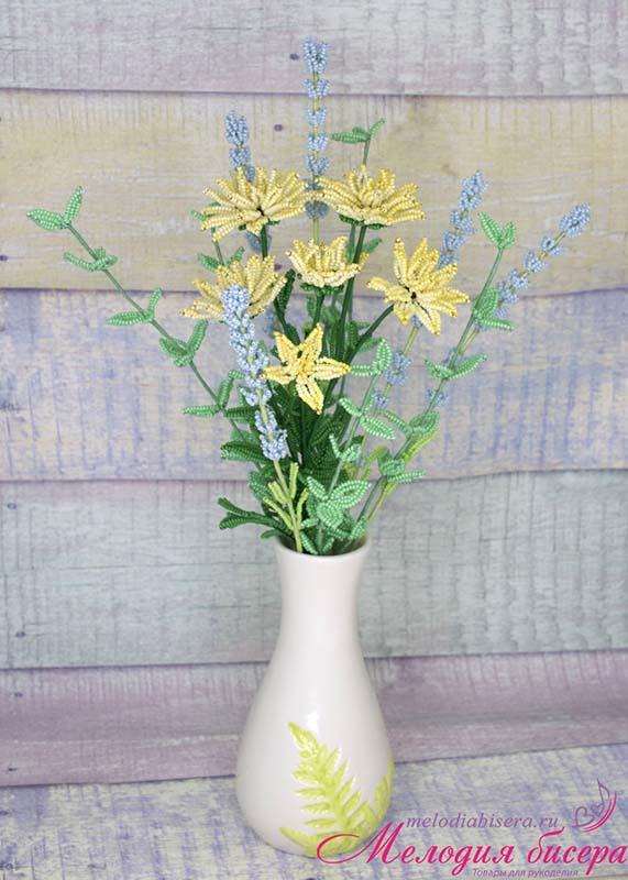 Хризантемы из бисера своими руками