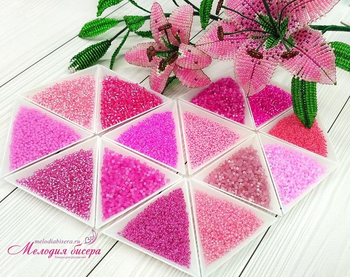 Розовый набор для рукоделия