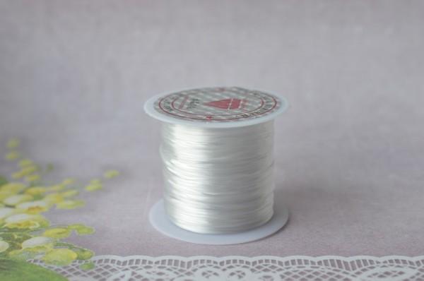 Купить Резинка латексная для бисера, цвет белый, намотка ~10м, толщина ~0,8мм, 1019-007, 1шт