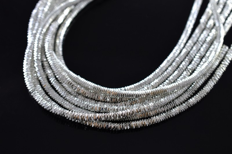 30cff8d57316 Канитель трунцал 4-х гран 3мм, цвет серебро, Индия, 49-023, 5 грамм  (примерно 40 см)