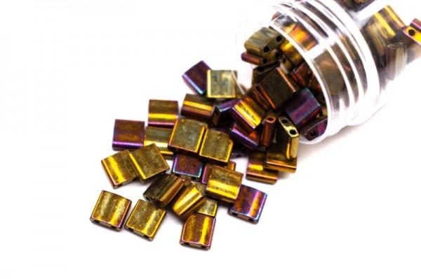 Купить Бисер японский MIYUKI TILA #0462 золотой ирис, металлизированный, 5 грамм