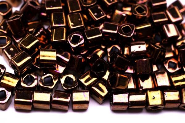 Купить Бисер японский TOHO Cube кубический 4мм #0224 олимпийская бронза, 5 грамм
