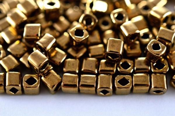 Купить Бисер японский TOHO Cube кубический 4мм #0221 бронза, 5 грамм
